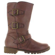 MIA Imeina - Brown Triple Buckle Lug Boot