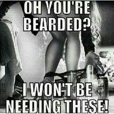Beard gang Flirty Quotes For Him, Sassy Quotes, Badass Women, Sexy Men, Masculine Traits, Beard Quotes, Beard Game, Funny Memes, Jokes