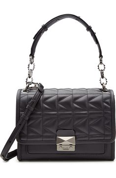 ae8e7ff6b845 KARL LAGERFELD Quilted Leather Shoulder Bag.  karllagerfeld  bags  shoulder  bags… Quilted