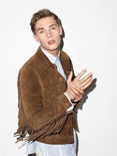 Tommy Marr rocks a suede fringe jacket from J.Lindeberg.