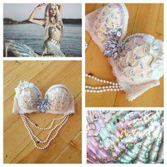 Pale Blush Mermaid Rave Bra // Rave Outfit