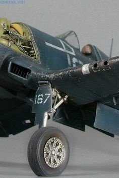 "PARK 1:Vought F4U-1D Corsair ""white 167"" in detail and scale 1/48 By Marek Vrzák - GModel Art"