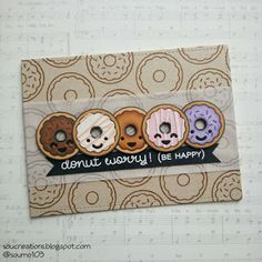 Card donut donuts Lawn Fawn Donut Worry - be happy stamp set by Lawn fawn Lawn Fawn Donut Worry; Lawn Fawn Make Me Smile dies; Scrapbooking, Scrapbook Cards, Donuts, Karten Diy, Lawn Fawn Stamps, Paper Smooches, Tampons, Card Making Inspiration, Kids Cards