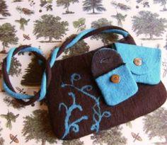 Bolso de fieltro hecho a mano con lana merina