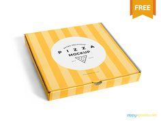 Free Delicious Pizza Box Mockup by ZippyPixels