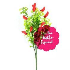 40 ramos de pimenta artificial galho flores artificiais