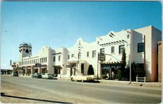 Lordsburg Nm New Mexico Hidalgo Hotel C1950s Cars