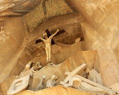 "Jesus Crucified - Gaudi - Sagrada Familia Cathedral, Barcelona, Spain - Matted Photo Art Print, 11""x 14"" by Romagosa Fine Arts, http://www.amazon.com/dp/B00GOGJH4O/ref=cm_sw_r_pi_dp_00yHsb1N2HXJ2"