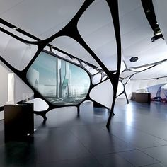 designismymuse:    ardose:Une Architecture at the Mobile Art Pavilion by Zaha Hadid  sharp pavilion design from hadid!