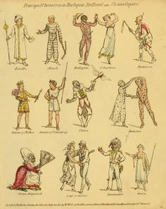 Principal Characters in Harlequin Brilliant or the Clown's Capers   Date1815