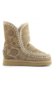 Botas MOU Eskimo Inner Wedge Short Embroidery