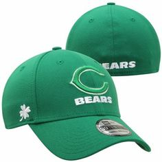 New Era Chicago Bears St. Patrick's Day Graf Pop 39THIRTY Flex Hat - Kelly Green