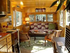 Can't believe this is a trailer/camper - I could totally live in this and be happy❤