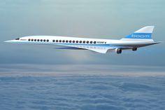 Segundo estimativas, o Boom poderá transportar 40 passageiros a mais de 2.700 km/h (Boom Technology)