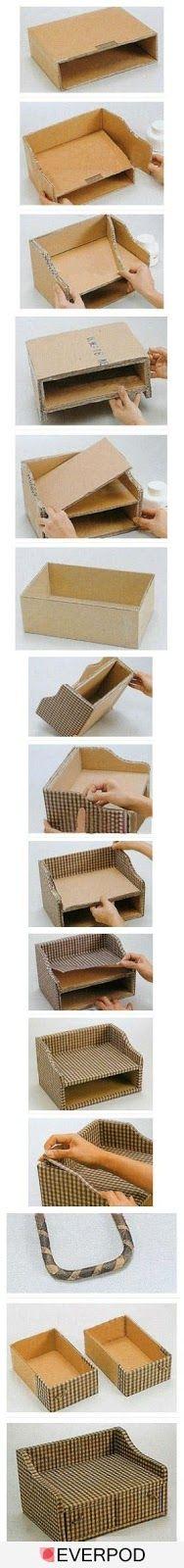 Máxima Razón.: IDEAS -Reciclar cartón, Como hacer un joyero. Haga...