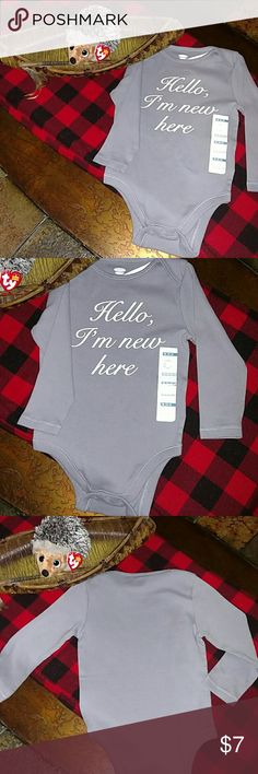 "NWT OLD NAVY L/S GIRL'S GREY ONSIE NWT! Adorbs!! Little lady's grey long sleeve onsie is all the introduction she's gonna need!! I love the simplicity of this piece, yet it's grey and white color is super trendy, and the cursive writing gives it a cute, feminine feel! Pairs well with a huge array of items! Size is 18-24 months (31""-33"" tall and 27-30 lbs/79-84 cm and 12-14 kg). Originally $9.94! Old Navy One Pieces"