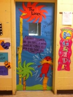 the lorax door-how cute