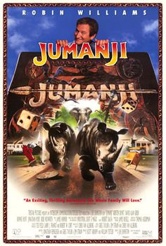 """""""Jumanji"""" Directed by Joe Johnston. Starring Robin Williams, Kirsten Dunst, and Bebe Neuwirth Childhood Movies, 90s Movies, Great Movies, Movies To Watch, Indie Movies, Robin Williams, Jumanji 1995, Jumanji Movie, Bonnie Hunter"""