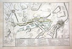 1747 Lafelt Maastricht Bilzen bataille .sehr seltener original Kupferstich von Georges Luis Le Rouge (1707-1790) von 1747 - Blattmasse: ca. 55 x 37 cm - gut erhalten. | very rare original copper engraving from Georges Luis Le Rouge (1707-1790) from 1747 - size of sheet: circa 21.6 x 14.6 inches -