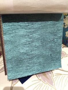 Fabric for recovering dining room chairs - Teal Arkona Fabric from Harlequin