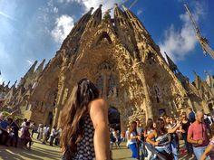 La Sagrada Família in Barcelona, Spain. One of the most beautiful and famous basilica in the world. #GoPro #city #sagradafamilia #barcelona #travel #wanderlust #architecture