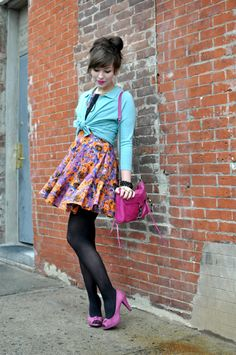 Bright courts shoes with tights #SpringLook http://www.charnos.co.uk/collections/Hosiery