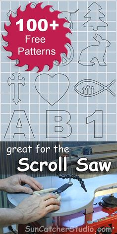 Free Scroll Saw patterns, ideas, projects, beginners, intermediate, advanced, internal cuts, religious, letters.