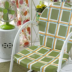 Save your old furniture (and some money) by a painting a brand new patio chair.