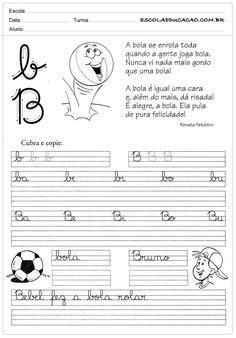 Atividade de caligrafia letra B