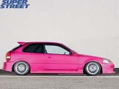 Pretty in pink hatch 1999 Honda Civic, Honda Civic Hatchback, Civic Jdm, Honda Cars, Honda Motorcycles, Tuner Cars, Jdm Cars, My Dream Car, Dream Cars