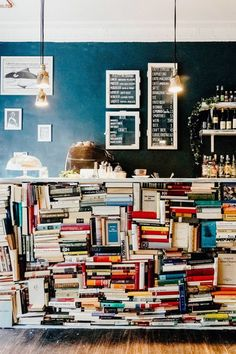 Build out of otherwise trash books - recycling/repurposing, quirky, cozy, retro, St Mary's. ------------------------------- A coffeeshop with the right idea I Love Books, Books To Read, My Books, Reading Books, Book Cafe, Coffee And Books, Book Nooks, Library Books, Book Of Life