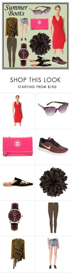"""""""Summer Boots"""" by cate-jennifer ❤ liked on Polyvore featuring Zac Posen, Kendall + Kylie, NIKE, Gia Couture, Gucci, Eberhard & Co., Paige Denim, 3.1 Phillip Lim and Alice + Olivia"""