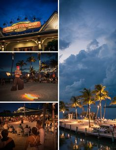 Beach wedding at the Islamorada Fish Company in Islamorada, Florida.