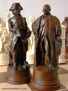 American War of Independence Plain Theme Chess Set