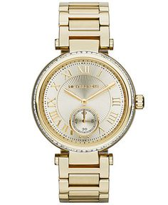 Michael Kors Watch, Women's Skylar Gold-Tone Stainless Steel Bracelet 42mm MK5867 - Watches - Jewelry & Watches - Macy's