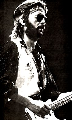 Eric Clapton...not sober, but one of my favorite periods of Slowhand...'77 on live recordings. Got almost all of 'em.