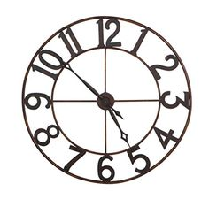 30 Trendy Oversized Numbers Open Frame Iron Wall Clock >>> Want to know more, click on the image. Note: It's an affiliate link to Amazon.
