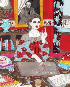 La feminidad y su fuerza en las coloridas acuarelas de Laura Callaghan | paredro.com