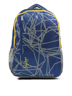 51107eb53742 Buy Skybags Kids Unisex Blue   Grey Printed Footloose Colt Extra 01  Backpack - Backpacks for
