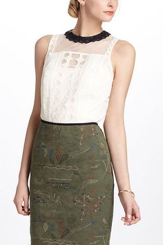 Onyx-Scalloped Blouse - 2012 anthropologie.com