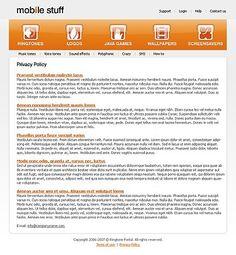 Mobile Stuff Website Templates by Matrix