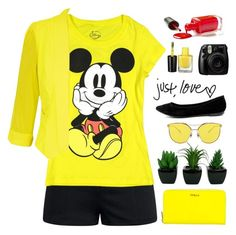 """""""mickey mouse"""" by tinkertot ❤ liked on Polyvore featuring Furla, City Chic, Breckelle's, Fujifilm and plus size clothing"""