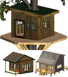 Learn how to build your own beautiful playhouses using simple step-by-step #playhouse plans