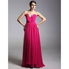 Chiffon Sheath/Column V-neck Floor-length Evening/Prom Dress inspired by Ginnifer Goodwin at Emmy Award