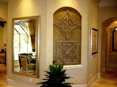Lakewood Ranch Country Club - mediterranean - living room - tampa - Speir Faux Finishes, Inc.
