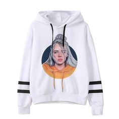 Billie Eilish Hoodies Sweatshirts//Sweatpants Men Two Piece Set Hooded Suit Ivory M