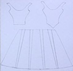 Template for the Folded Paper Dress: Right click on the photo and 'Save Picture…