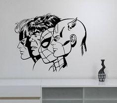 Superheroes Wall Art Vinyl Decal Sticker Removable Captain