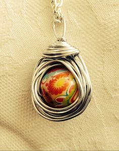 Beautiful Nest Pendant with 18mm bead - pinned by pin4etsy.com