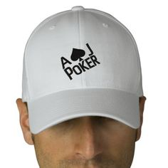 AJ Fitted Poker Hat    Give your head a treat with this high-quality, embroidered Flexfit cap. Available in two stretchable sizes, it gives you a really comfortable fit. Our cap features a Permacurv® visor, silver underbill, fused hard buckram 8.89 cm. crown, 6 sewn eyelets for breathability and taped seams.